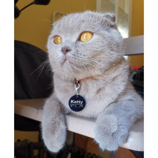 Collier d'identification pour chat personnalisée tag id