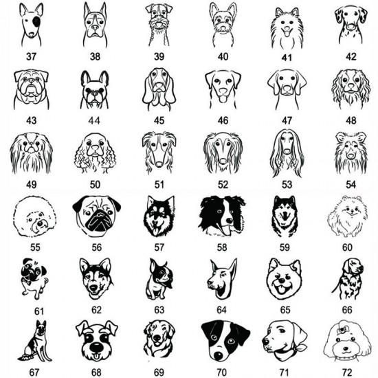 Collier d'identification pour chien personnalisée tag id