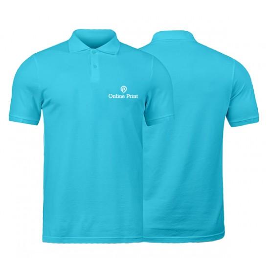 Polo Bleu Ciel Manches Courtes