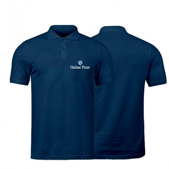 Polo Bleu Marine Manches Courtes