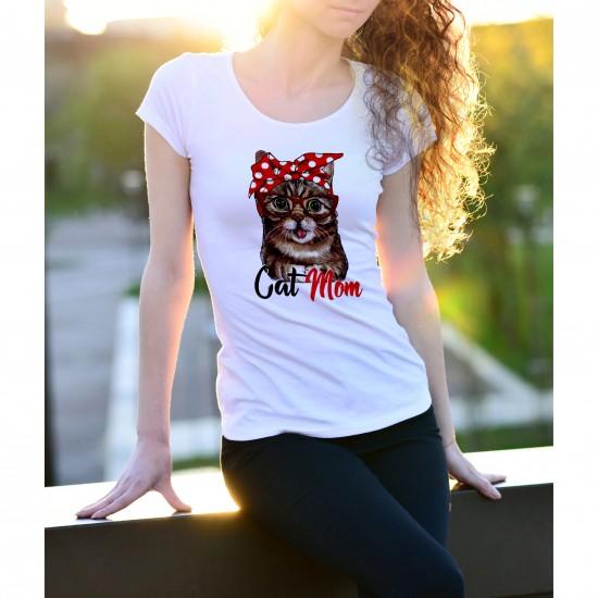 T-shirt Cat Mom - Maroc