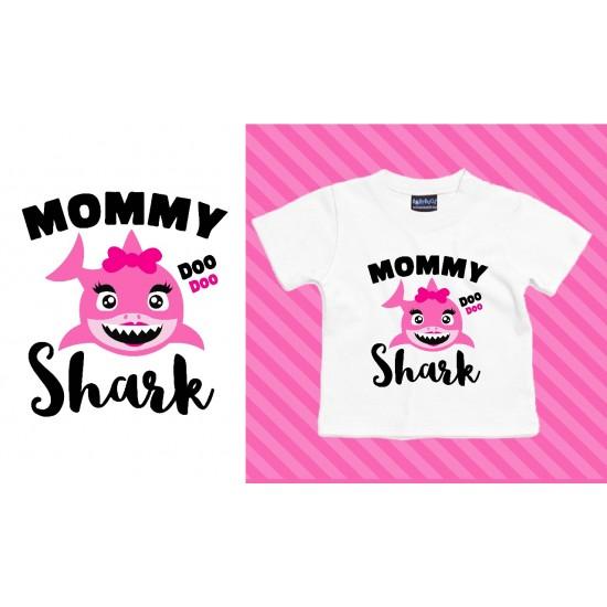 T-shirts d'anniversaire famille shark